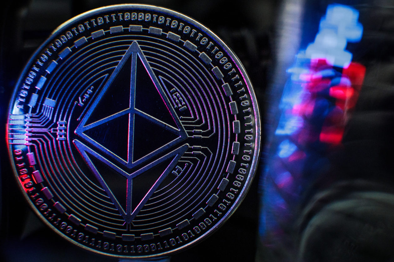 Ethereum coin near red and blue lights   EthCC4 Paris Recapped