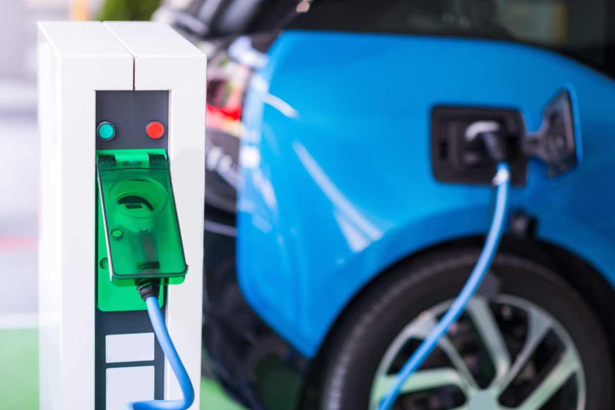 a charging EV, blockchain can help to develop application of renewable energy