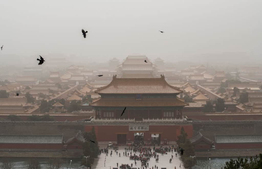 Beijing And Northern China Hit By Sandstorm