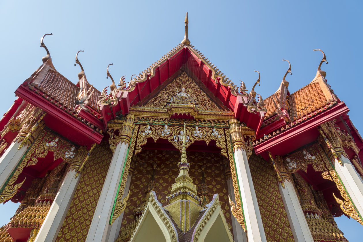 Thai temple in Thailand. The central bank of Thailand published a guideline on blockchain