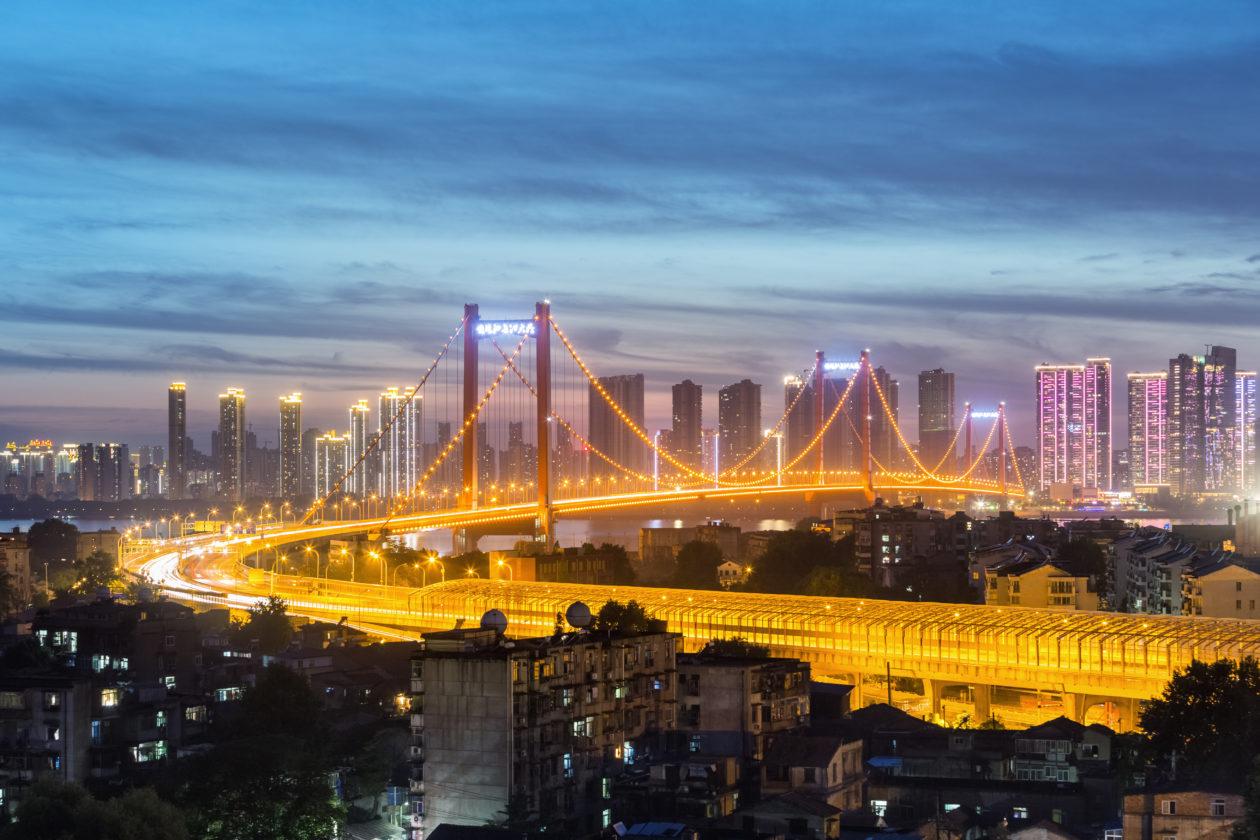 Wuhan Yangtze river bridge, the city is boosting the blockchain company