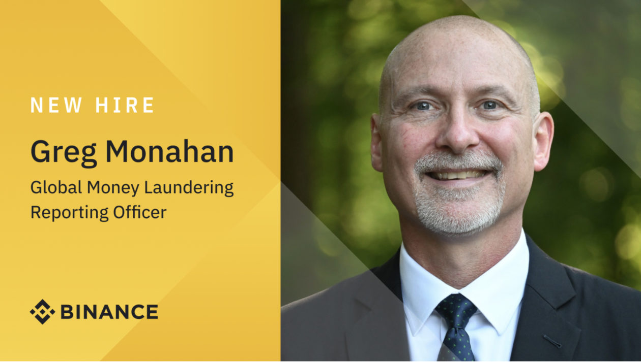 Crypto exchange Binance appoints Greg Monahan as Global Money Laundering Reporting Officer