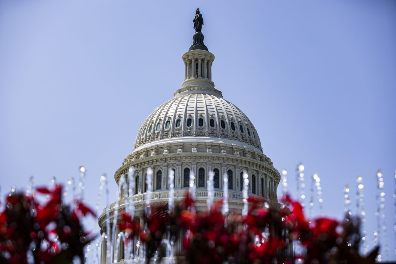 WASHINGTON, DC - AUGUST 08: The U.S. Capitol Building is seen on August 8, 2021 in Washington, DC. The Senate will vote on amendments for the legislative text of the $1 trillion infrastructure bill ahead of August recess. (Photo by Samuel Corum/Getty Images)