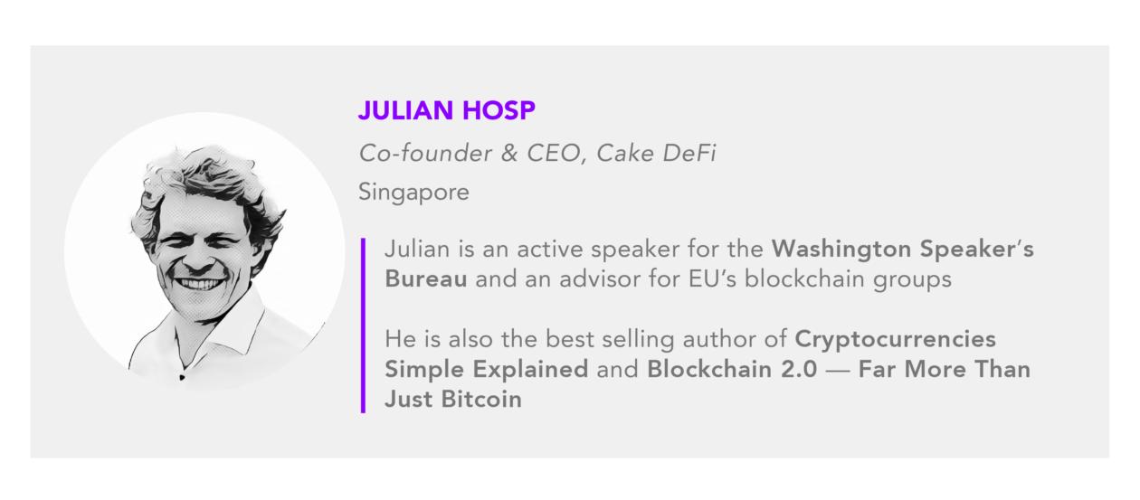 Julian Hosp Cake DeFi CEO author card