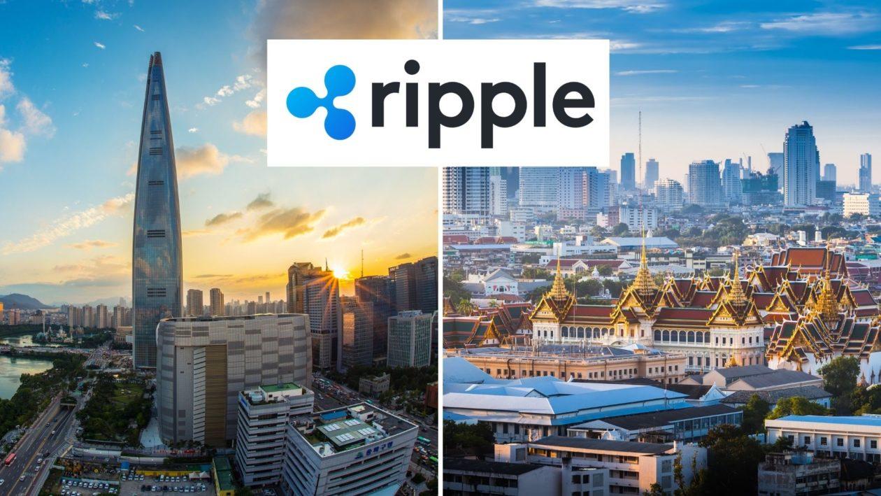 Seoul in South Korea and Bangkok in Thailand. Ripple logo