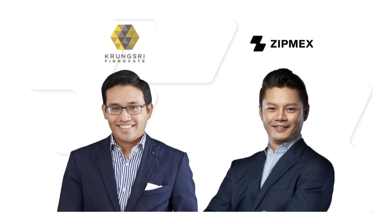 (Left to right) Sam Tanskul, Managing Director at Krungsri Finnovate and Marcus Lim, Zipmex CEO