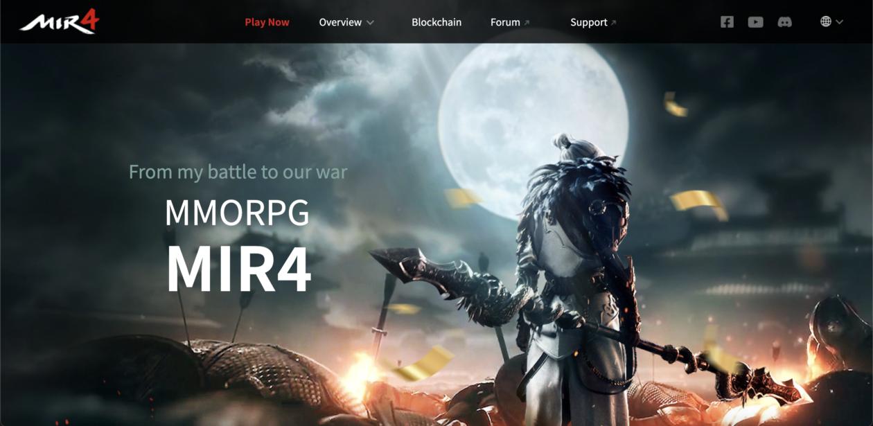 MIR4 global website | Blockchain game MIR4 gains global popularity despite ban in South Korea