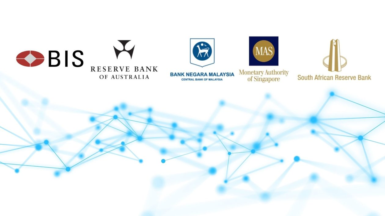 Logos of BIS Innovation Hub and the central banks of Australia, Malaysia, Singapore and South Africa