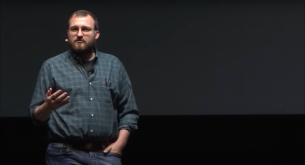 IOHK founder Charles Hoskinson giving the keynote speech at the Cardano Summit