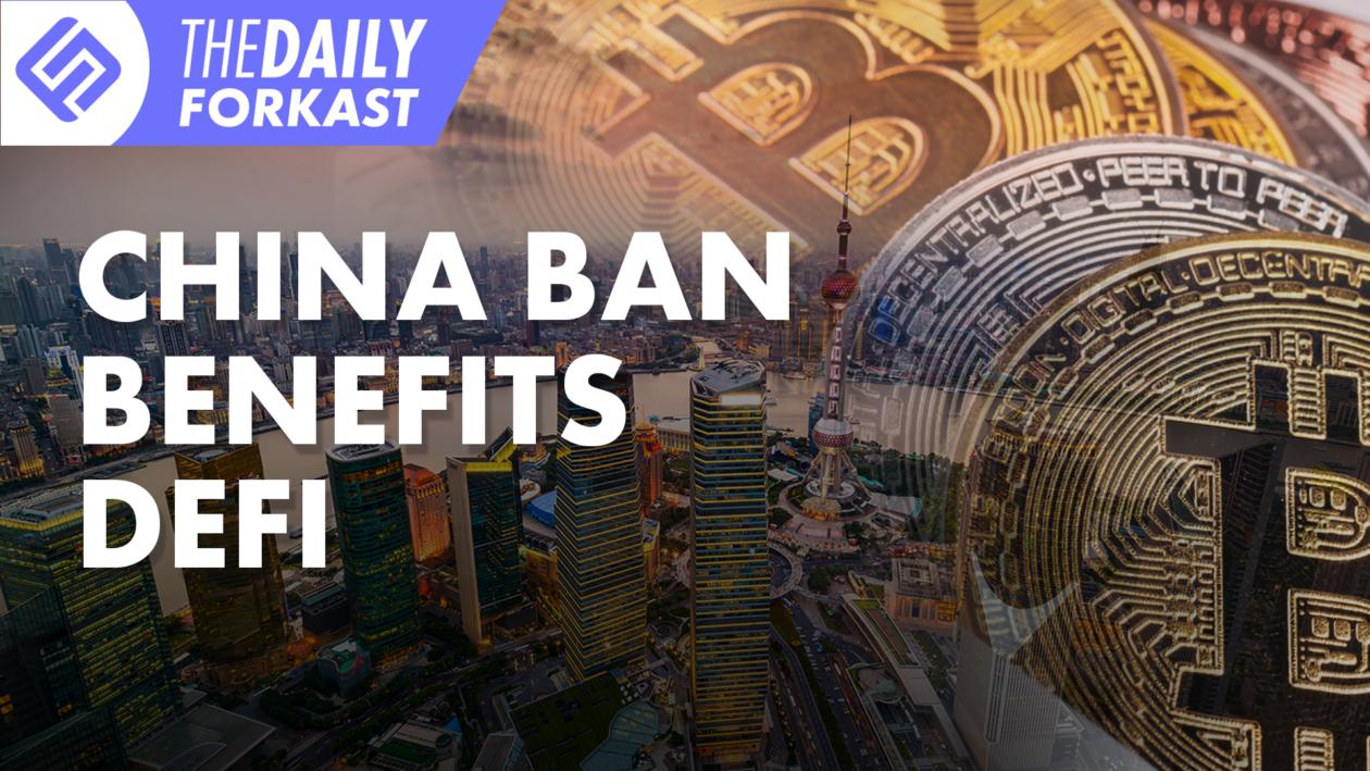 China Ban Benefits Defi
