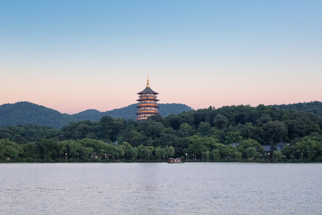 Scenery spot of Zhejiang, A city of Zhejiang province announced to adopt Blockchain for tracking carbon emissions Province,