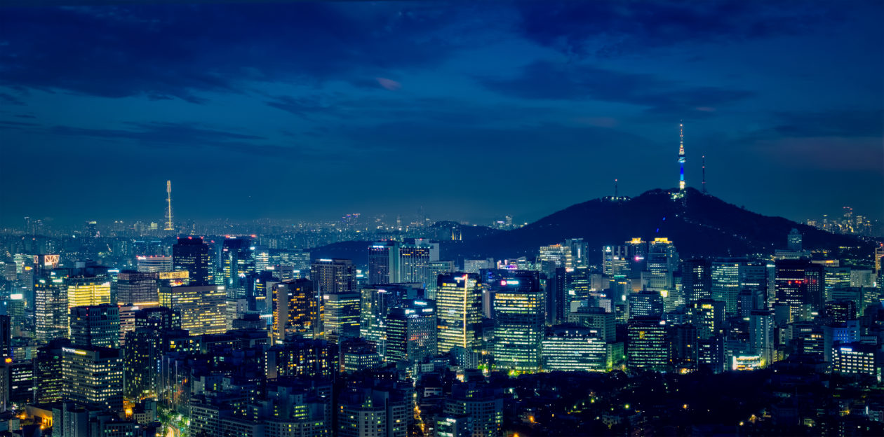 Seoul skyline in the night, South Korea   Korean exchanges in purgatory plea for survival