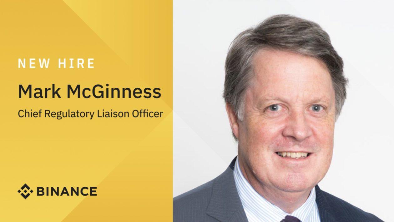 Binance Chief Regulatory Liaison Officer Mark McGinness