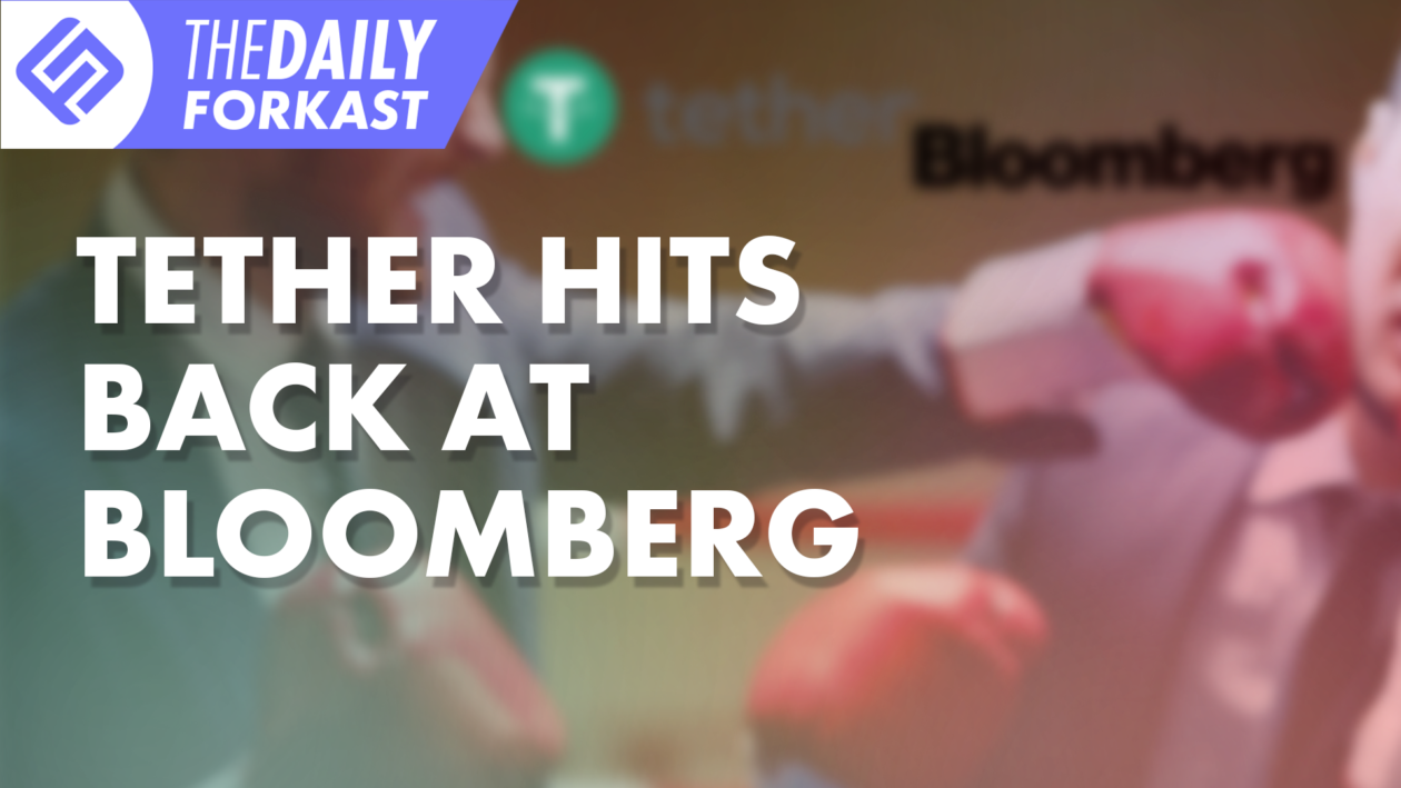 Tether Hits Back at Bloomberg