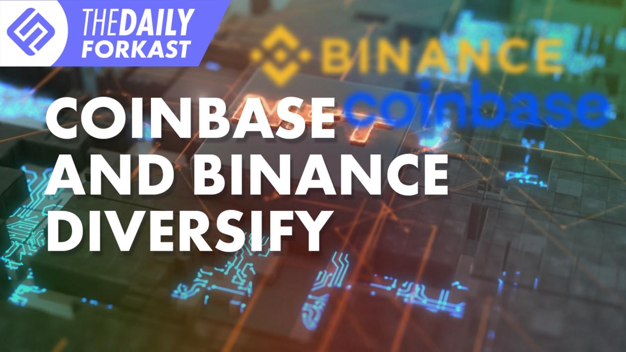 Coinbase and Binance Diversify