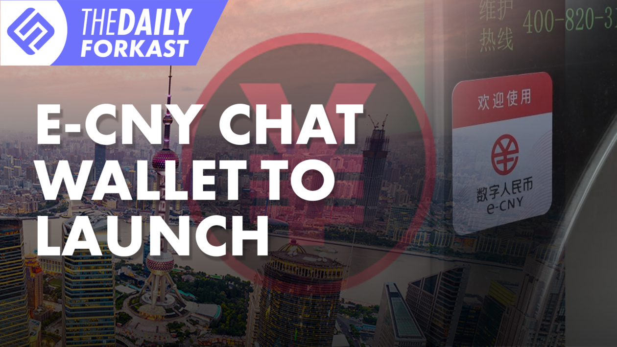 e-CNY chat wallet to launch; Korean illegal crypto transactions surge
